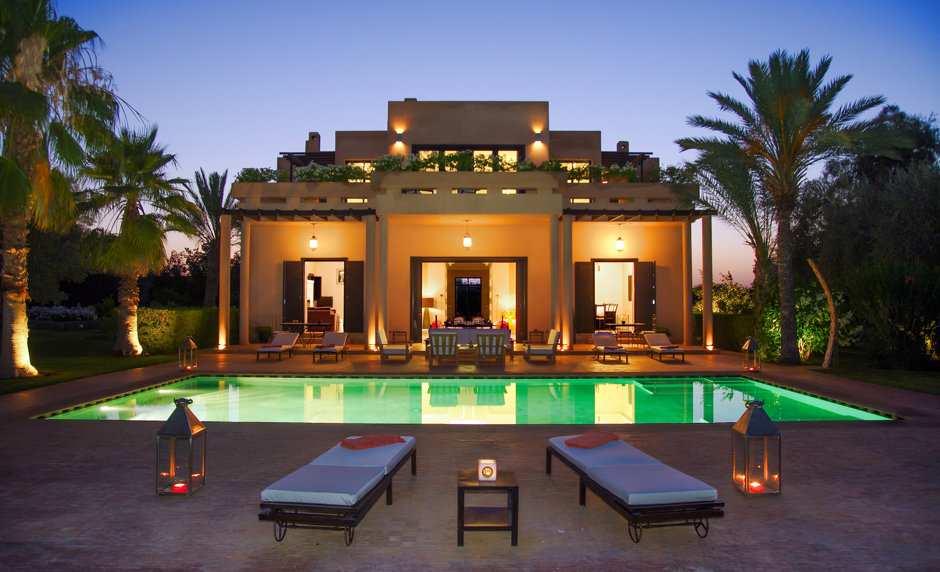 Location villa marhaba prestige villa louer for Pictures of beautiful houses inside and outside